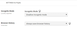 Disallow incognito mode and save browser history