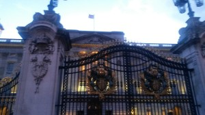 Looking through the Gates of Buckingham Palace