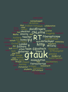My first #gtauk word cloud